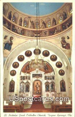 St Nicholas Greek Orthodox Church - Tarpon Springs, Florida FL Postcard