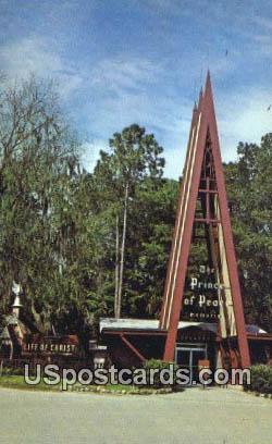 Prince of Peace Memorial - Silver Springs, Florida FL Postcard