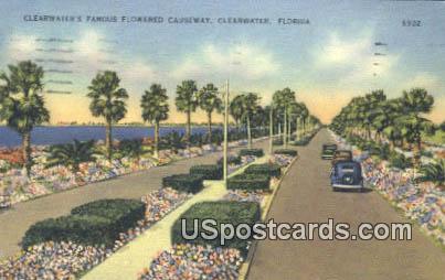 Flowered Causeway - Clearwater, Florida FL Postcard