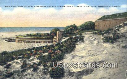 Fort Barrancas & San Carlos - Pensacola, Florida FL Postcard