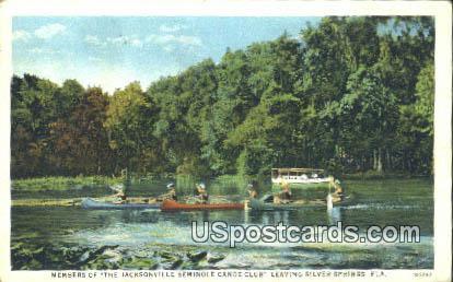 Seminole Canoe Club - Silver Springs, Florida FL Postcard