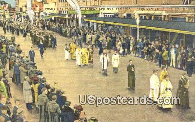 Epiphany Day Parade - Tarpon Springs, Florida FL Postcard