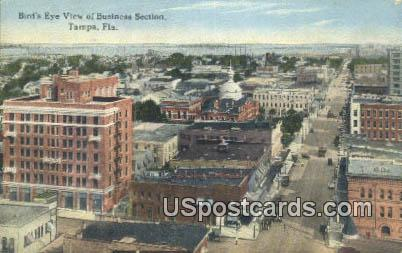 Business Section - Tampa, Florida FL Postcard