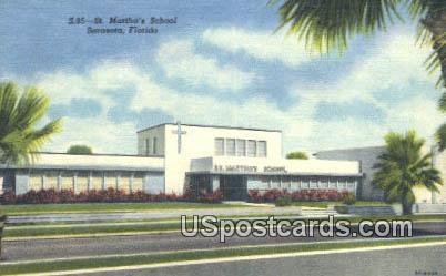 St Martha's School - Sarasota, Florida FL Postcard