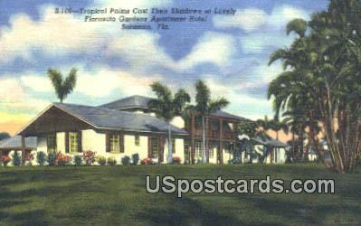 Florasota Gardens Apartment Hotel - Sarasota, Florida FL Postcard