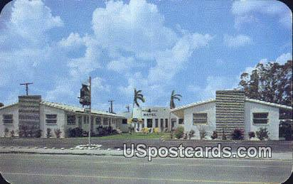 Blue Bell Motel - Hollywood, Florida FL Postcard