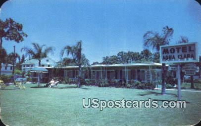 Aqua Clara Motel - Clearwater, Florida FL Postcard