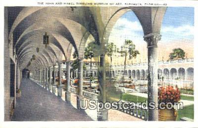 John & Mabel Ringling Museum of Art - Sarasota, Florida FL Postcard