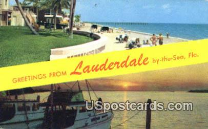 Lauderdale by the Sea, FL Postcard     ;     Lauderdale by the Sea, Florida