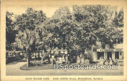 Moss Trailer Park - Bradenton, Florida FL Postcard