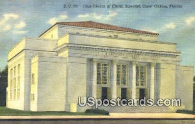 First Church of Christ Scientist - Coral Gables, Florida FL Postcard