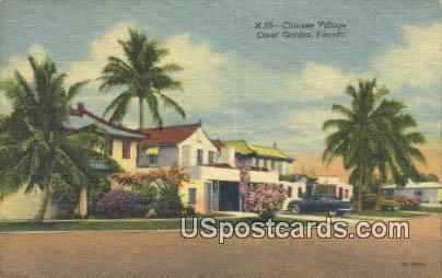 Chinese Village - Coral Gables, Florida FL Postcard