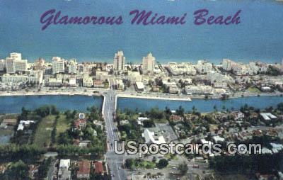 41st Street Bridge - Miami Beach, Florida FL Postcard
