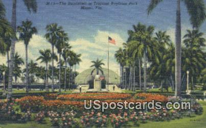 Bandshell, Tropical Bayfront Park - Miami, Florida FL Postcard