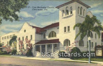 First Methodist Church - Clearwater, Florida FL Postcard