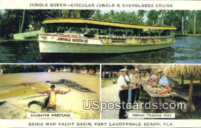 Jungle Queen - Fort Lauderdale Beach, Florida FL Postcard