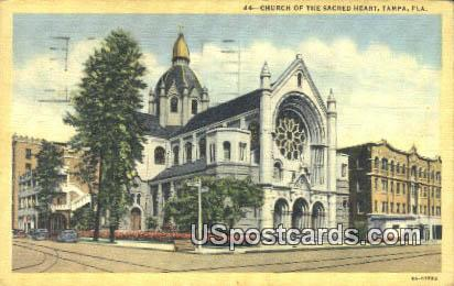 Church of the Sacred Heart - Tampa, Florida FL Postcard