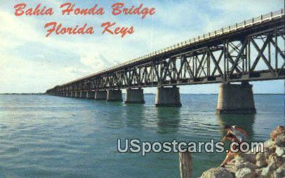 Bahia Honda Bridge - Florida Keys Postcards, Florida FL Postcard