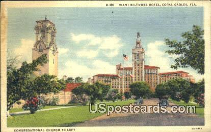 Miami Biltmore Hotel - Coral Gables, Florida FL Postcard