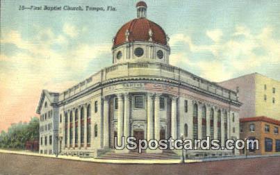 First Baptist Church - Tampa, Florida FL Postcard