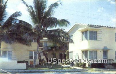 Ru-Vel Apartments - Hollywood, Florida FL Postcard