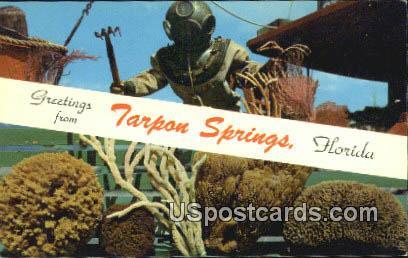 Scuba Diver - Tarpon Springs, Florida FL Postcard