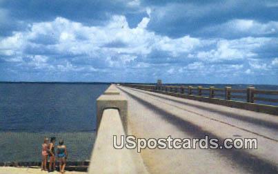 Pensacola Bay Bridge - Florida FL Postcard