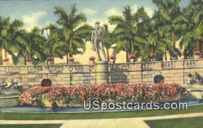 David Statue Ringling Art Museum - Sarasota, Florida FL Postcard