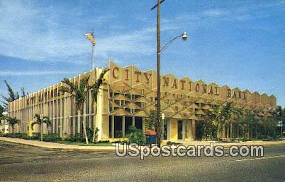 City National Bank - Coral Gables, Florida FL Postcard