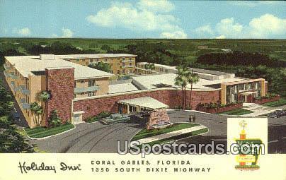 Holiday Inn - Coral Gables, Florida FL Postcard