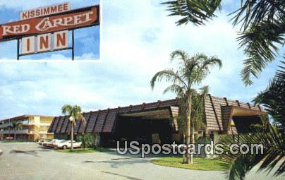 Kissimmee Red Carpet Inn - Florida FL Postcard