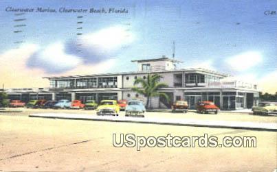 Clearwater marina - Clearwater Beach, Florida FL Postcard