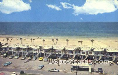 Sea Castle Beachfront Motel - Sarasota, Florida FL Postcard