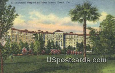 Municipal Hospital, Davis Island - Tampa, Florida FL Postcard