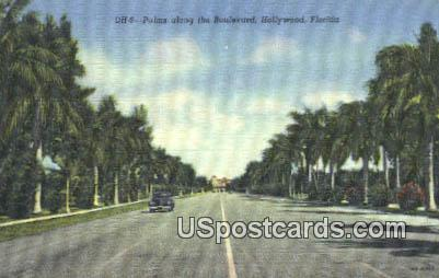 Palms - Hollywood, Florida FL Postcard