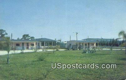 Derby Lane Court - Tampa, Florida FL Postcard