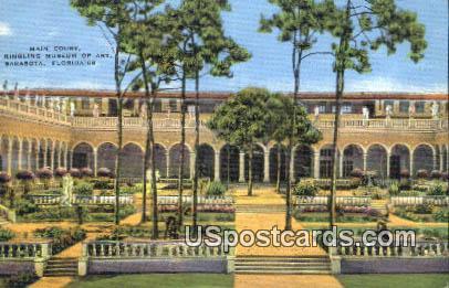 Main Court, Ringling Museum of Art - Sarasota, Florida FL Postcard