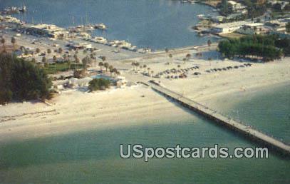 Fishing Pier & Marina - Clearwater Beach, Florida FL Postcard