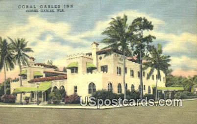 Coral Gables Inn - Florida FL Postcard