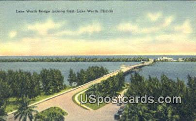 Lake Worth Bridge - Lake Wales, Florida FL Postcard