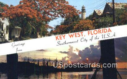 Key West, Florida Postcard     ;     Key West, FL