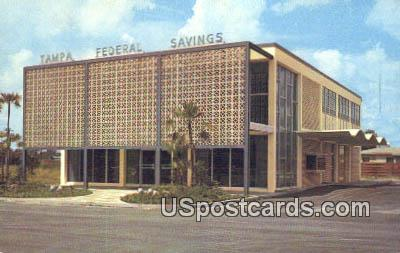 Tampa Federal Savings & Loan Association - Florida FL Postcard