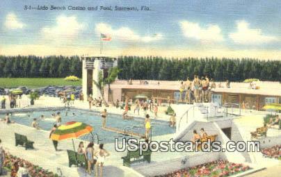 Lido Beach Casino & Pool - Sarasota, Florida FL Postcard