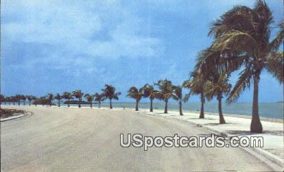 Koosevelt Boulevard - Key West, Florida FL Postcard