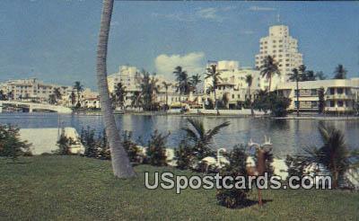 Indian Creek Home - Miami Beach, Florida FL Postcard
