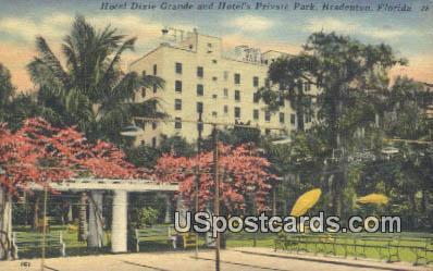 Hotel Drive - Bradenton, Florida FL Postcard