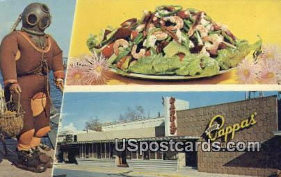 Louis Pappas Famous Riverside Restaurant - Tarpon Springs, Florida FL Postcard