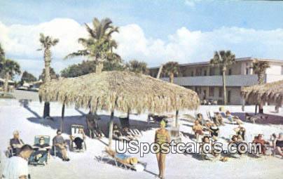 Gulf Beach Hotel - Sarasota, Florida FL Postcard