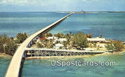 Seven Mile Bridge - Florida Keys Postcards, Florida FL Postcard