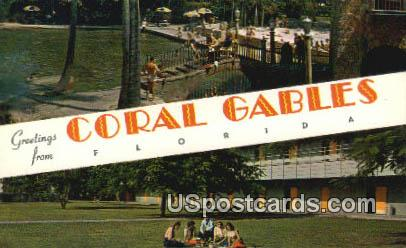 Coral Gables, FL Postcard     ;     Coral Gables, Florida